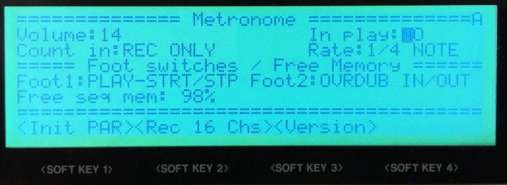 Metronome and Pedals