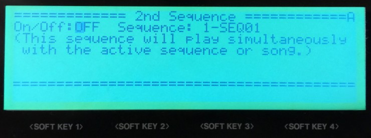 2ND SEQ Button